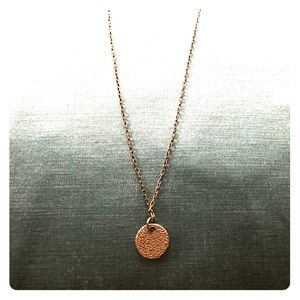 Simple Gold Plate Necklace